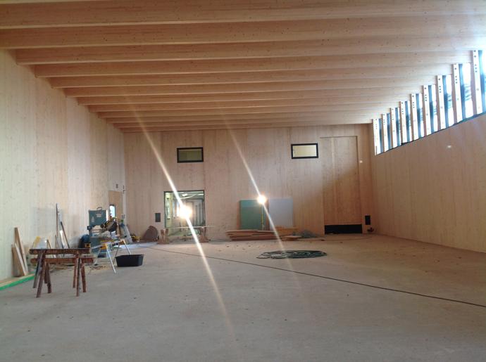 Sporthalle Ruppendorf erster Eindruck der Innenraumqualität