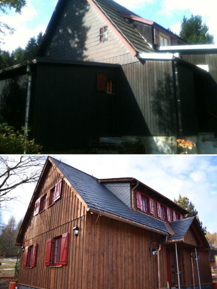Ferienhaus neu errichtet