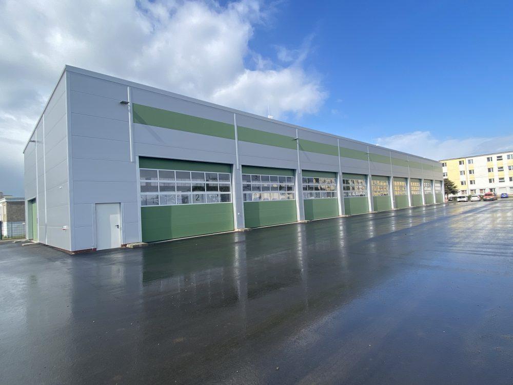 Halle für Hochwasserschutzausrüstung der Stadt Dresden